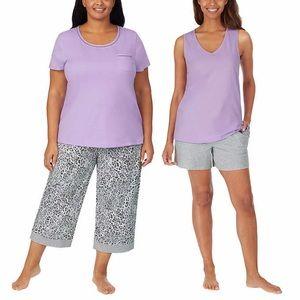 Carole Hochman Cotton 4pc Pajama Set